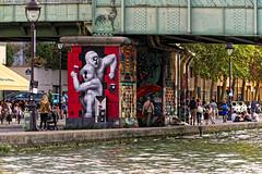 Street Art à la Villette (Edgard.V) Tags: paris parigi da cruz canal channel canale cart1