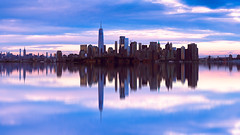 Manhattan skyline with reflection, New york city USA (Patrick Foto ;)) Tags: manhattan america architecture background blue building business city cityscape colorful downtown dusk empire famous financial harbor hudson jersey landmark light midtown modern morning new nyc office outdoor over panorama panoramic pier place reflection river scenic sky skyline skyscraper square state sunset tourism travel twilight urban usa view water waterfront york jerseycity newjersey unitedstates us