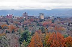COLOR AND SKYLINE (KayLov) Tags: swannanoa scenery asheville grove park inn leaves foliage