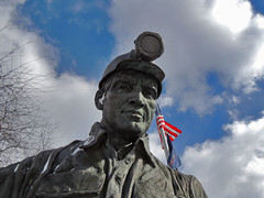 Old Miner (George Neat) Tags: 9for9 ninefornine somerset county quecreek mine rescue miracle scenic landscapes monument laurelhighlands georgeneat patriotportraits neatroadtrips clouds