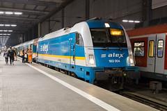 DLB 183 004 Munich Hbf (daveymills37886) Tags: die länderbahn dlb 183 004 munich hbf baureihe siemens taurus es64u4