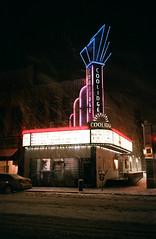 (fritz london) Tags: olympusinfinitystylus agfavista200 35mm color film coolidgecornertheater brookline boston