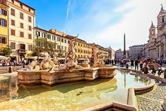 Plaza Navona (bienve958) Tags: roma lazio italia it plazanavona piazzanavona fuente esculturas plaza city cityscape rome