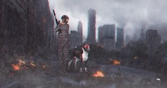 ɪᴛ'ꜱ ʜᴀʀᴅ ᴛᴏ ꜱʟᴇᴇᴘ ᴡʜᴇɴ ʏᴏᴜʀ ʜᴇᴀʀᴛ ɪꜱ ᴀᴛ ᴡᴀʀ ᴡɪᴛʜ ʏᴏᴜʀ ᴍɪɴᴅ. (Kockwash SL) Tags: destroyed city burning varsity drias shirt themenjail kockwash