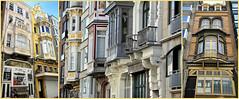 Immeubles à Oostende, Belgium (claude lina) Tags: claudelina belgium belgique belgië ostende mer sea plage beach merdunord noordzee sable cabine immeubles maisons houses buildings