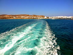 Antiparos Farewell Wake (dimaruss34) Tags: newyork brooklyn dmitriyfomenko image sky greece antiparos aegeansea water mountains coast yacht