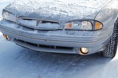 Driving excitement (LivGreen) Tags: 1997 pontiac bonneville silver car winter snow headlights driving michigan