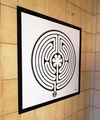 Labyrinth 203/270 (R~P~M) Tags: train railway station art enamel vitreousenamel wallinger labyrinth barbican londonunderground london england uk unitedkingdom greatbritain
