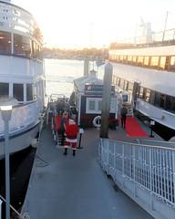 016 Jolly Fat Santa On The Dock (saschmitz_earthlink_net) Tags: 2018 california marinadelrey boat parade marinadelreyboatparade christmasparty suez