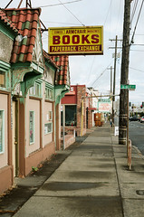 Armchair Books (Travis Estell) Tags: semilwaukieavenue indiebookstore oregon portland portra160 armchairbooks thedarkroomlab 35mmfilm kodakportra160 oregononfilm canonae1 portlandonfilm unitedstates