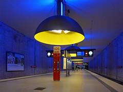 Westfriedhof station (jrw080578) Tags: lights underground germany deutschland bavaria bayern munich münchen ubahn
