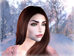 warm thoughts at a cold winter day (genevievebelle) Tags: maitreya slink second life secondlife sl bellaza winterwonderland winter cosy sweet catwa blueberry