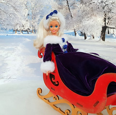 The snow time - TAG-GAME (alenamorimo) Tags: barbie barbiedoll doll winter barbiecollector superstar holidays