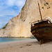 Smugglers Cove on the coast of Zakynthos
