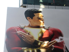 Shazam The Big Red Cheese Billboard 42nd St NYC 3807 (Brechtbug) Tags: shazam billboard 42nd street new captain marvel the big red cheese poster ad nyc 2019 times square movie billboards york city work working worker paint painting advertisement dc comic comics hero superhero alien dark knight bat adventure national periodicals publication book character near broadway shield s insignia blue forty second st fortysecond 03142019 lightning flight flying march