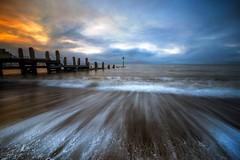 Aberystwyth sunset (alexcalver) Tags: wales waves jetty beach aberystwyth midwales formatthitech canon80d