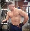 bicep cable curls (ddman_70) Tags: shirtless pecs abs muscle gym workout biceps sweatpants treasuretrail