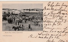 Market Day at Laidley, Qld - 1904 (Aussie~mobs) Tags: vintage queensland australia laidley 1904 marketday sulky cart wagon horsedrawn