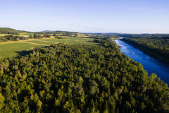 Potatoes and Rivers (Northern Wolf Photography) Tags: aroostook clouds dji drone dronescape farm forest mountains phantom3 potato river sky standard trees woods caribou maine unitedstates us
