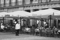 Spanish Evening (Anna Sikorskiy) Tags: bw blackandwhite streetphotography street cafe people city cityscape historic urban life lifestyle mood atmosphere abstract concept europe spain canon