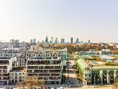 Warszawa (skyline 1) (Wojtek Gurak) Tags: warsaw warszawa drone skyline panorama powisle kopernik buw
