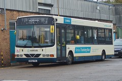 Trainer: Arriva Harlow DAF SB120/Wright Cadet GK52YVF (3944) Fourth Avenue Harlow 16/11/18 (TheStanstedTrainspotter) Tags: bus buses harlow public transport publictransport arrivaharlow networkharlow daf wright wrightbus cadet sb120 dafsb120 wrightcadet trainer training learner 3944 gk52yvf