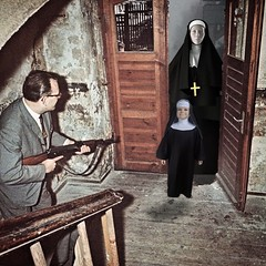 Trick or Treat (Flamenco Sun) Tags: scary bizarre dada surreal vintage halloween disturbing weird horror nun creepy