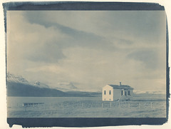 house, tea-toned this time (lawatt) Tags: house gjögur árneshreppur westfjords iceland altprocess cyanotype traditional revereplatinum teatoned