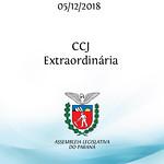 CCJ Extraordinária 05/12/2018