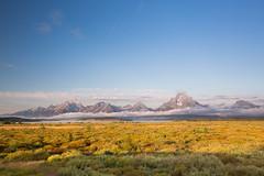 Grand Teton Mountains at dawn. USA Sept 2017-00406 (Peter-D-Smith) Tags: canonef1635mmf28liiusm canoneos5dmkiii dawn grandteton grandtetonnationalpark landscape mountains september2017 sunrise usa willowflatsoverlook