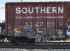 (o texano) Tags: houston texas graffiti trains freights bench benching onorok a2m