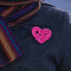 Reflective crochet heart (Winterbound) Tags: knitting handknitted handmade crochet reflective reflector