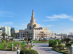 Qatar Islamic Culture Center - Doha, Qatar (fisherbray) Tags: fisherbray qatar stateofqatar دولةقطر dawlatqatar addawhah addawha addōḥa doha الدوحة google pixel2 souqwaqif سوقواقف thestandingmarket souq abdullabinzaidalmahmoudislamicculturalcenter binzaid spiralmosque fanar qatarislamicculturecenter mosque souqwaqifpark park