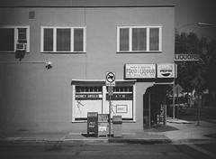 San Jose (bior) Tags: fujifilmga645zi ga645zi 6x45cm ilfordfilm ilford sanjose mediumformat 120 panfplus panf liquorstore shop store mailbox