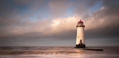 Lighthouse (JasonPC) Tags: taacre beach lighthouse light sunset water sea waves clouds colour