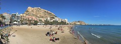 Welcome to Alicante (roomman) Tags: 2018 alicante welcome sun sunny spain beach town citadell hill mountain summer warm hot med meditteranean sea water sand sandy people men man woman women bath girl girls guy wave waves
