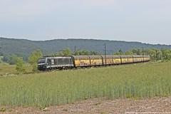 MRCE/PCT 185 566 am 23.05.2018 mit einem ARS Autozug in Haunetal-Neukirchen (Eisenbahner101) Tags: