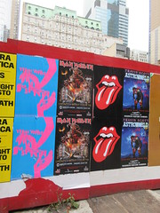 Suspiria 2018 movie poster Iron Maiden with Rolling Stones Lips and Tongue Posters 5247 (Brechtbug) Tags: iron maiden concert poster blue construction fence eddie devil monster zombie album british heavy metal skeletal sidekick west 45th street nyc 2018 november 11182018 brit soldier creepy demon dude union jack flag torn billboard posters billboards cover art with rolling stones lips tongue suspiria movie