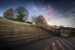 Crystal Palace (World of Tim) Tags: crystal palace south london november 2018 sydenham penge night long exposure time lapse timelapse steps stairs ruins abandoned derelict nikon d700 dslr aerial tv television trees skyscape clouds antenna tim saunders photo photographer photography shadows light