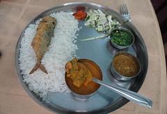 Fish curry rice thali (joegoaukfishcurryrice) Tags: joegoauk goa fish curry rice