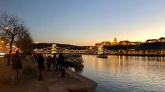 Evening on the Danube (RobW_) Tags: hungary danube amaviola november 2018 16nov2018 budapest riverbank