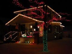 IMG_1586 Seasons Greetings (jgagnon63@yahoo.com) Tags: christmas christmasdecorations christmaslights december escanaba nightphotography deltacountymi canons110 michigan uppermichigan
