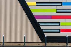 Plelo_0917-3-2 (Mich.Ka) Tags: breizh bretagne plélo abstract abstrait architecture bâtiment bâtimentindustriel color couleur côtesdarmor façade geometric geometrique industrial industrialdesign ligne line mur wall