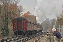 Still Recording (Deepgreen2009) Tags: video recording filming watching steam uksteam railway train passing maroon special transport enthusiast
