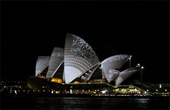 Alternative Opera House (Peter Polder) Tags: australia architecture abstract building buildings city cityscape cityscapes dusk exterior evening harbour night landscape nite road rocks sydney street sky seascape sculpture town urban v