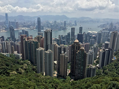 View from Victoria Peak (cowyeow) Tags: central view thepeak peaktram victoriapeak water ocean city mountains china street chinese asia asian 香港 hongkong building urban tall buildings