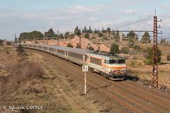 La BB 7300 en tête du 4657 Bordeaux - Marseille (Sylvain COSTES) Tags: bb7200 locomotive trian railway corail intercités
