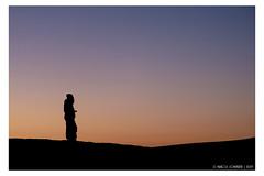 Sunset walk (Mirko Daniele Comparetti) Tags: ma marocco morocco sahara azzurro blue cielo desert deserto marrakechexpress2019 people persone sabbia sand silhouette sky sunset tramonto