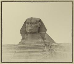 Die große Sphinx von Gizeh (Julius310) Tags: urlaub reise reisefotografie world monochrome afrika africa kreativ sehenswürdigkeit wüste motiv sphinx egypt ägypten pyramiden antike gizeh kairo giza