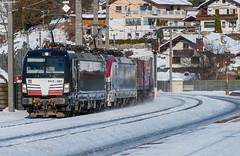 """Here comes the """"Winner"""" (westrail) Tags: nikon nikkor d810 dslr f28 digicam digitalkamera afs70200 vri lens objektiv fotograf photographer andreasberdan omot youmademyday europa europe österreich austria siemens öbb austrianfederalrailways österreichischebundesbahnen gleis schiene track ngc lokomotive locomotive loco niederösterreich loweraustria stjodok tirol brennerbahn alpen alps tyrol vectron mrce 193 193663 x4e x4e663 winner spedition cargo klv kombiverkehr matrei mitsuirailcapitaleurope 193773"""